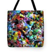 Magic  Colors  Sculpture  Nineteen  Ninety  Nine Tote Bag by Carl Deaville