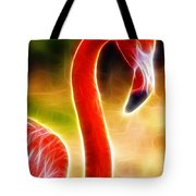 Magical Pink Flamingo Tote Bag