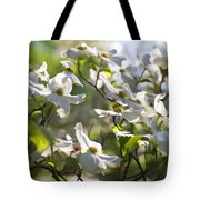 Magical White Flowering Dogwood Blossoms Tote Bag