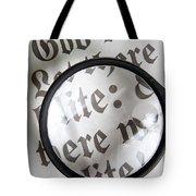 Magnifying News Tote Bag