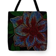 Magnolia Abstract Sketch Tote Bag