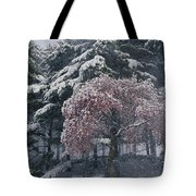 Magnolia Blossoms And Conifers Tote Bag