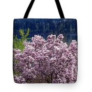 Magnolia By The Lake Tote Bag