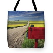 Mailbox On Country Road, Tiger Hills Tote Bag