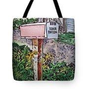 Mailbox Sketchbook Project Down My Street Tote Bag by Irina Sztukowski