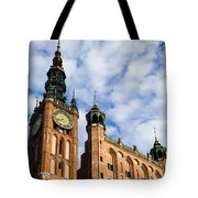 Main Town Hall In Gdansk Tote Bag
