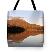 maine 25 Baxter State Park Mt. Khatahdin Reflection in Daicey Pond Tote Bag