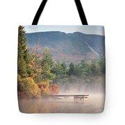 maine 26 Baxter State Park Mt. Khatadin Morning Mist on Daicey Pond Tote Bag