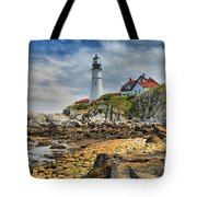 Maine Head Light Tote Bag