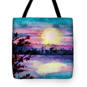 Maine October Sunset Tote Bag