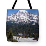 Majestic Rainier Reflected Tote Bag