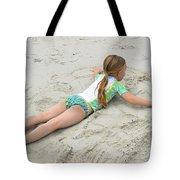 Making A Sand Angel Tote Bag