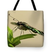 Malachite Butterfly Tote Bag