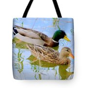 Mallard Couple Tote Bag
