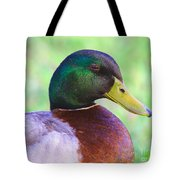 Mallard Drake In Shade Tote Bag