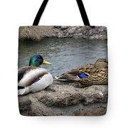 Mallard Duck Couple Tote Bag
