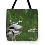Mallards Taking Off Tote Bag