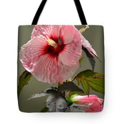 Mallow Hibiscus Tote Bag