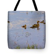 Mama Duck And The Kiddies Tote Bag