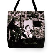 Mamma Chris And Colette Having A Well Deserved Rest  Siesta In The Garden In Alba France  Tote Bag by Colette V Hera  Guggenheim