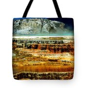 Mammoth Terrace - Yellowstone Tote Bag by Ellen Heaverlo