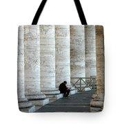 Man And Columns Tote Bag