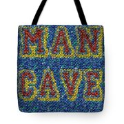 Man Cave Bottle Cap Mosaic Tote Bag by Paul Van Scott