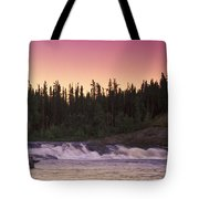 Man Fly-fishing In River Tote Bag