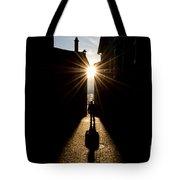Man In Backlight Tote Bag