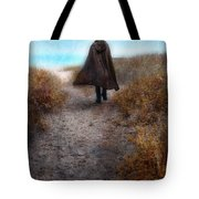 Man In Cape And Top Hat By The Sea Tote Bag