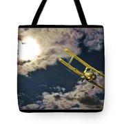 Man In Flight Tote Bag