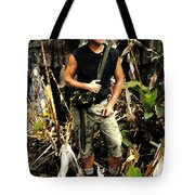 Man In The Wilderness Tote Bag