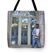 Man In The Window Tote Bag