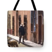 Man Quits The Herd Tote Bag