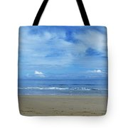 Man Riding A Pony On The Beach Tote Bag