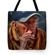 Man Smoking Tote Bag