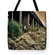 Man Under Bridge Tote Bag