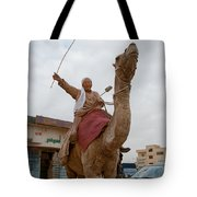 Man With His Camel Tote Bag
