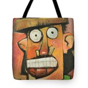 Man With Terracotta Hat And Green Shirt Tote Bag
