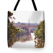 Manayunk Bridge Along The Schuylkill River Tote Bag