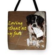 Mancha - A Loving Heartbeat Tote Bag