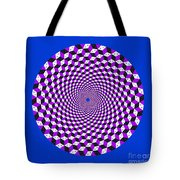 Mandala Figure Number 5 With Rhombus Steps In Black And White And Purple Tote Bag