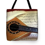 Mandolin And Partiture Tote Bag