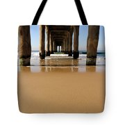 Manhattan Beach Pier Paddler Tote Bag