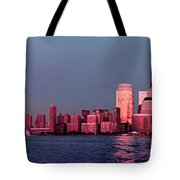 Manhattan In Pink Tote Bag