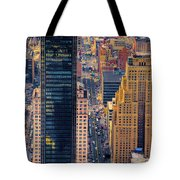 Manhattan Streets From Above Tote Bag