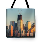 Manhattan Sunset Reflections Tote Bag