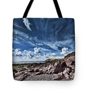 Manorbier Rocks Big Sky Tote Bag