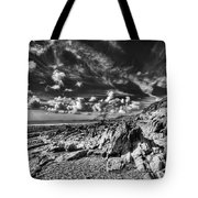 Manorbier Rocks Too Mono Tote Bag