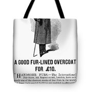 Mans Overcoat, 1888 Tote Bag